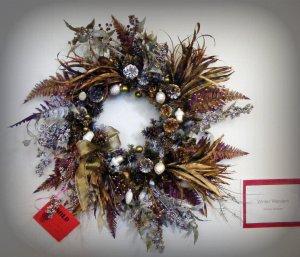 A festive wreath.